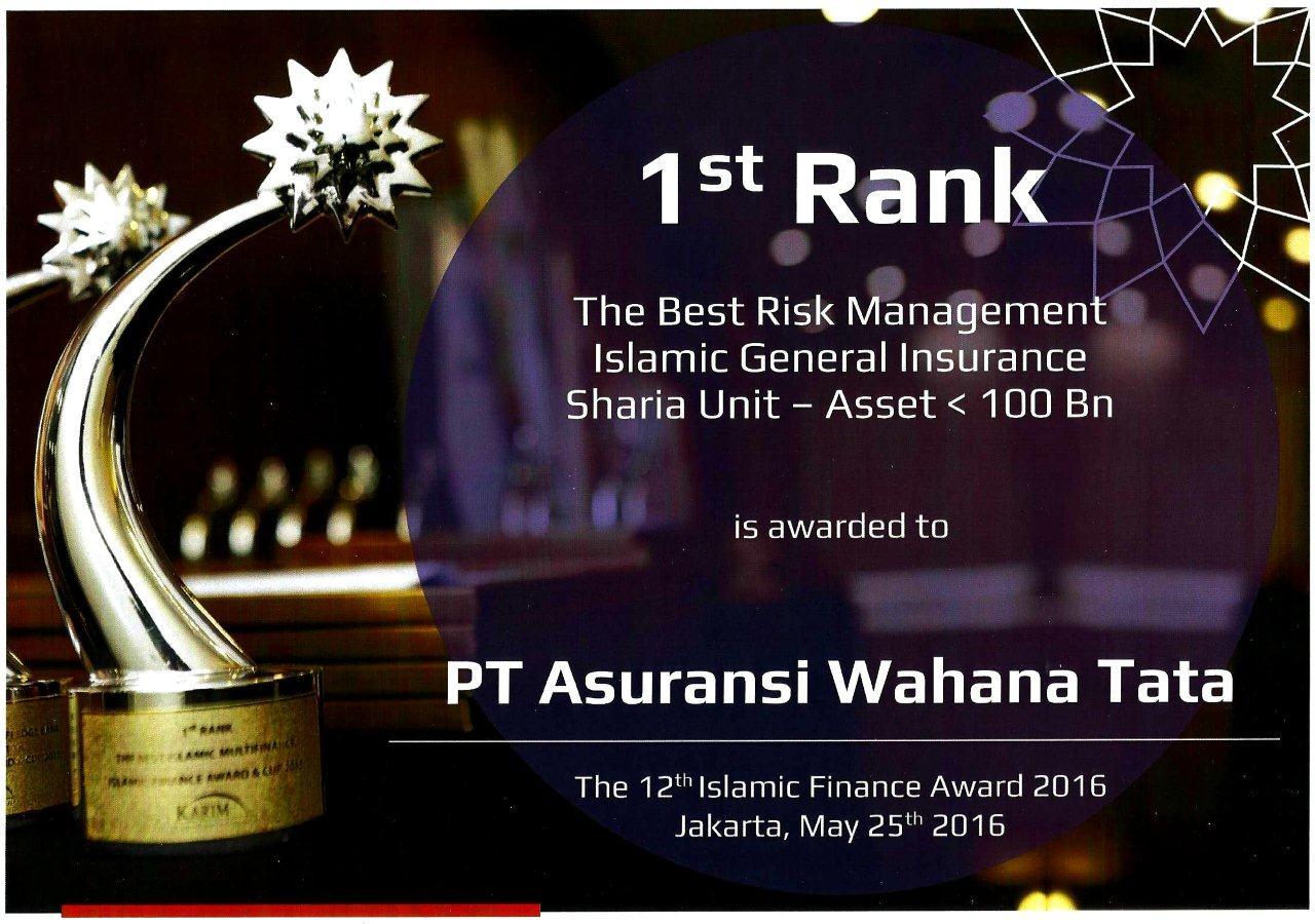 AwtTakaful 1stRank BestRiskManagement IFA2016